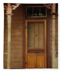 Vintage Doorway Fleece Blanket