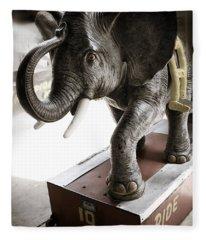 Vintage Elephant Ride Fleece Blanket