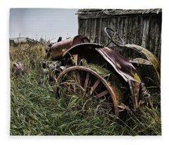 Vintage Farm Tractor Color Fleece Blanket