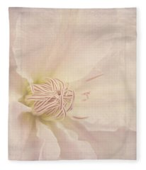 Vintage Flower Art - A Beautiful Place Fleece Blanket