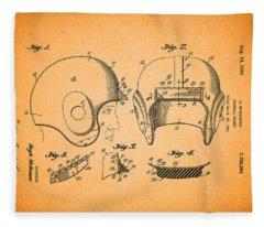 Vintage Football Helmet Patent 1956 Fleece Blanket
