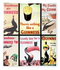 Vintage Guinness  Fleece Blanket