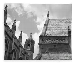 Vintage Ornate Architecture Fleece Blanket