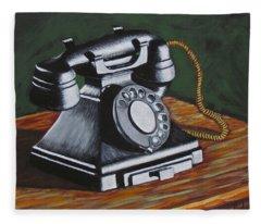 Vintage Phone 2 Fleece Blanket