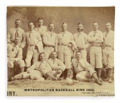 Vintage Photo Of Metropolitan Baseball Nine Team In 1882 Fleece Blanket