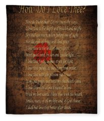 Vintage Poem 4 Fleece Blanket