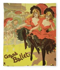 Vintage Poster   Brighton Fleece Blanket