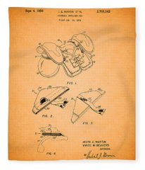 Vintage Shoulder Pad Patent 1956 Fleece Blanket