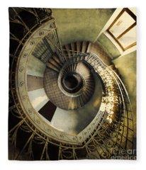 Vintage Spiral Staircase Fleece Blanket