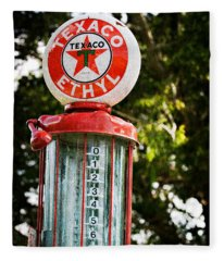 Vintage Texaco Gas Pump Fleece Blanket