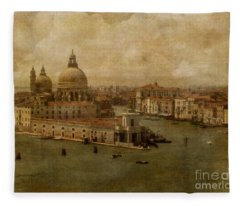 Vintage Venice Fleece Blanket