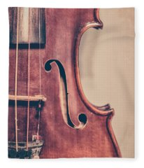 Vintage Violin Portrait 2 Fleece Blanket