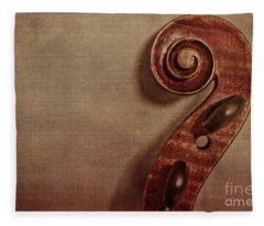 Violin Scroll Fleece Blanket