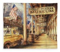Virginia City Nevada - Western Art Painting Fleece Blanket