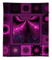 Virulent Lightwaves Redux  Fleece Blanket
