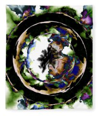 Visions Echo In The Crystal Ball Fleece Blanket
