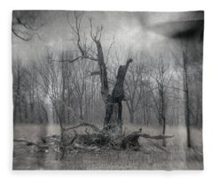 Visitor In The Woods Fleece Blanket