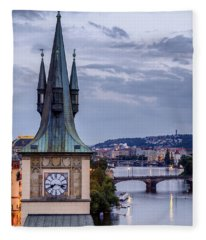 Vltava River In Prague Fleece Blanket