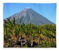 Volcan Concepcion Nicaragua Fleece Blanket
