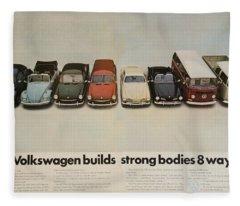 Volkswagen Builds Strong Bodies 8 Ways Fleece Blanket