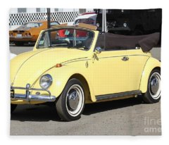 Volkswagen Convertible Vintage Fleece Blanket