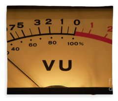 Vu Meter Illuminated Fleece Blanket