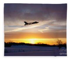 Vulcan Sundown  Fleece Blanket