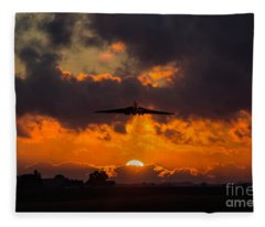 Vulcan Sunset Scramble  Fleece Blanket