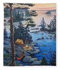 Wabigoon Lake Memories Fleece Blanket