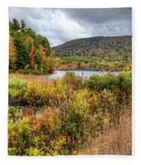 Wachusett Mt. In Autumn Fleece Blanket
