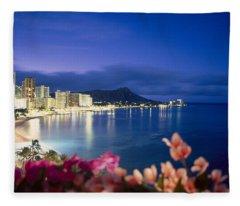 Waikiki Twilight Fleece Blanket