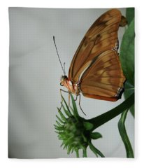 Butterfly Waiting On The Wind  Fleece Blanket