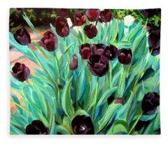 Walk Among The Tulips Fleece Blanket