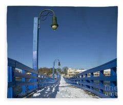 Walk In The Blue Light Fleece Blanket