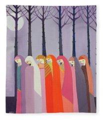 Walk In The Park, 1989 Acrylic On Canvas Fleece Blanket