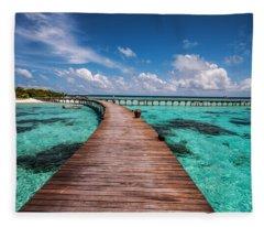 Walk Over The Water Fleece Blanket