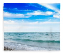 Walking The Shore - Extended Fleece Blanket