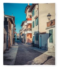 walking through Grado - through the past Fleece Blanket