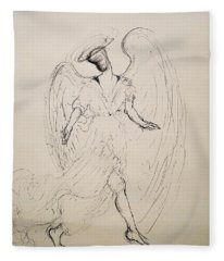 Walking With An Angel Fleece Blanket
