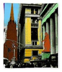 New York Pop Art 99 - Color Illustration Fleece Blanket