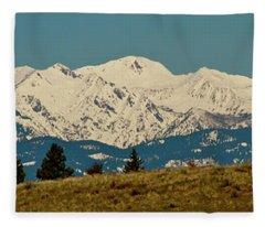 Wallowa Mountains Oregon Fleece Blanket