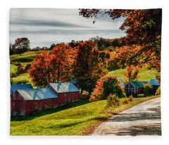 Wandering Down The Road Fleece Blanket