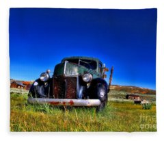 Wanna Ride - Bodie Ghost Town By Diana Sainz Fleece Blanket
