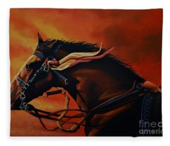War Horse Joey  Fleece Blanket