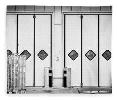 Warehouse Doors Fleece Blanket
