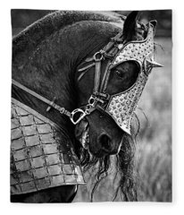 Warrior Horse Fleece Blanket