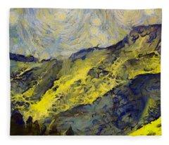 Wasatch Range Spring Colors Fleece Blanket