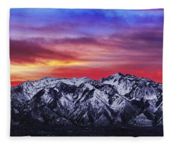Wasatch Sunrise 2x1 Fleece Blanket