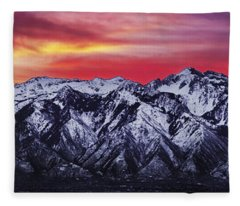 Wasatch Sunrise 3x1 Fleece Blanket