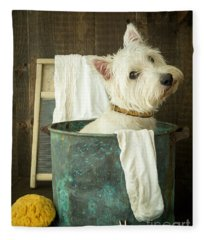 Fleece Blanket featuring the photograph Wash Day by Edward Fielding